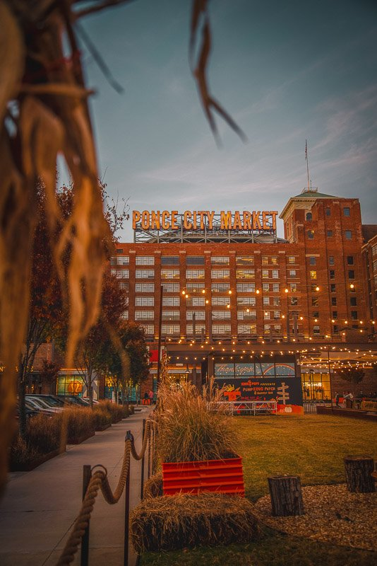 The Ponce City Market in Atlanta is home to various shops, restaurants, food stalls, boutiques, and offices.