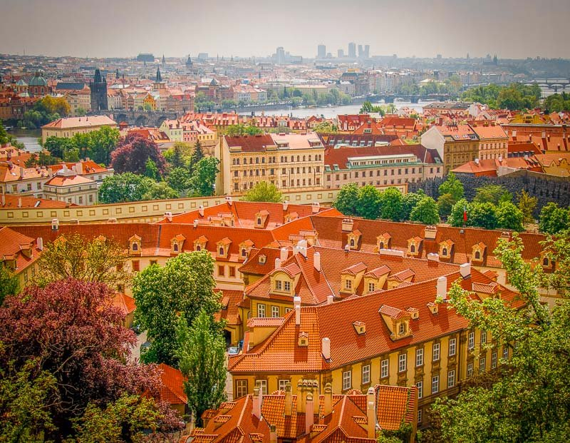 Prague's colorful skyline.