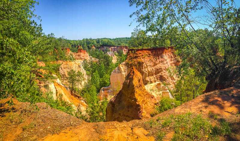 """Providence Canyon is also known as the """"Little Grand Canyon.""""  It's definitely one of the top places to visit in Georgia."""