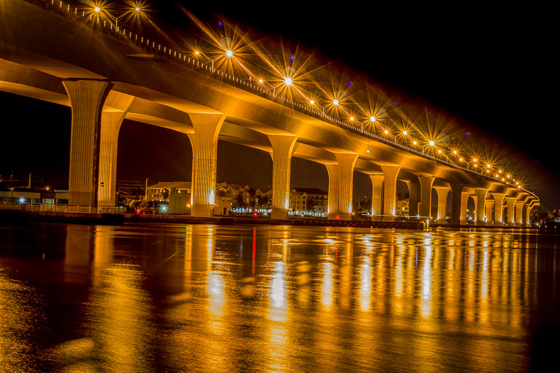 The Roosevelt Bridge in Stuart, Florida.