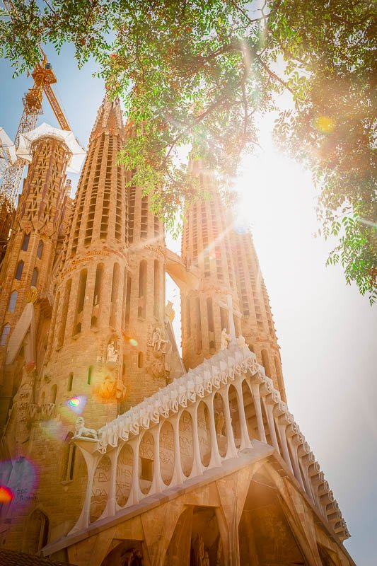 The Sagrada Familia in Barcelona is one of the most unique churches in the world