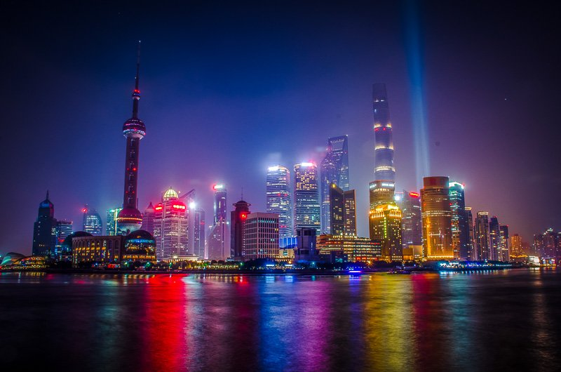 Shanghai's futuristic skyline is one of a kind.