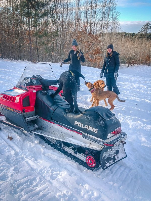 Visiting Wisconsin in the winter? Try snowmobiling!