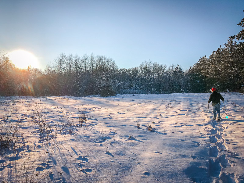 Snowshoeing is one of the top things to do in Wisconsin in the winter months