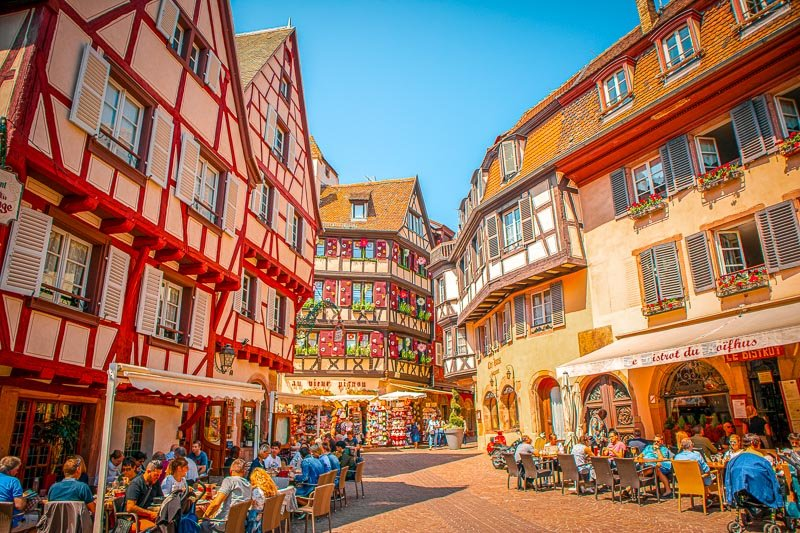 Strasbourg has a lively alfresco scene with lots of restaurants and cafes.