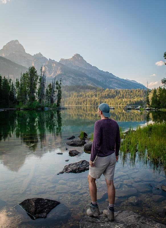 Taggart Lake is a must-see for its mountain reflections.