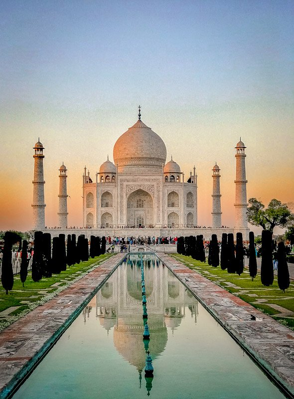 Visiting the Taj Mahal is one of the most unique bucket list ideas for travel lovers.