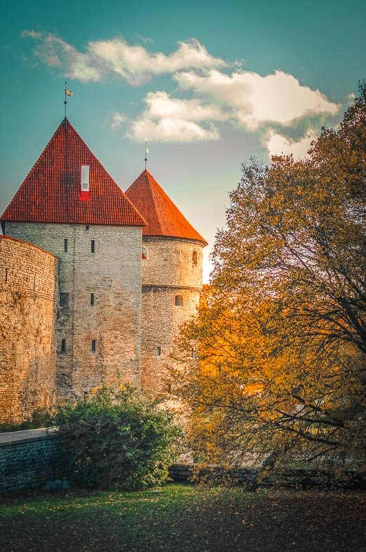 Tallinn's city walls were built in the 13th century.