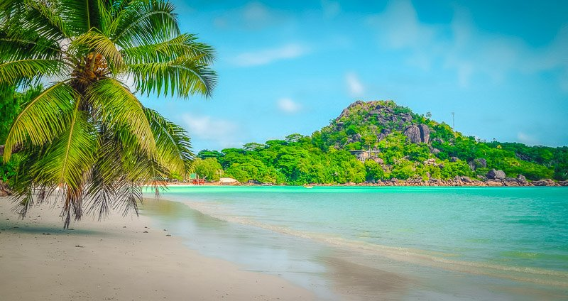 The Seychelles is a tropical island paradise.