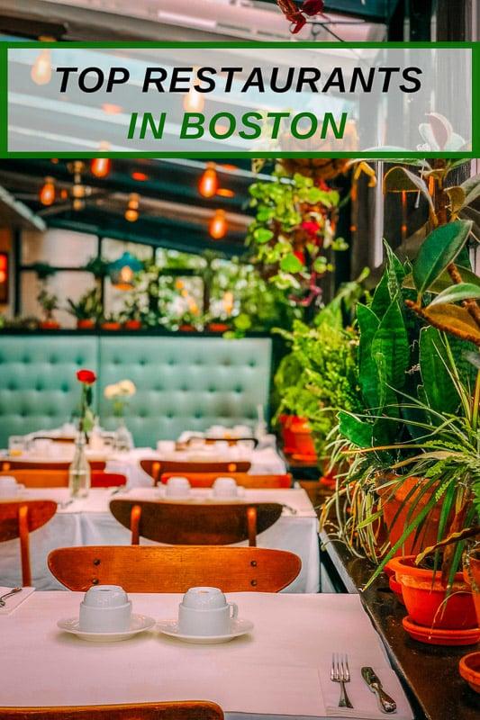 Coolest restaurants in Boston for the most unique eats - pinterest photo pin