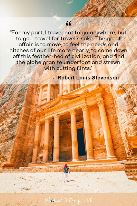 Why do you travel the world quote