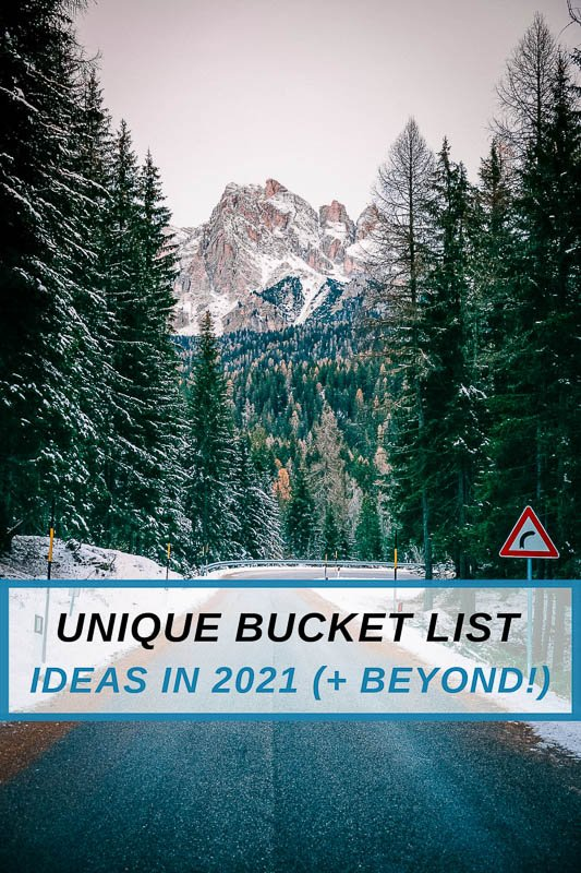 Most unique bucket list ideas for travel, life, and self advancement pinterest image