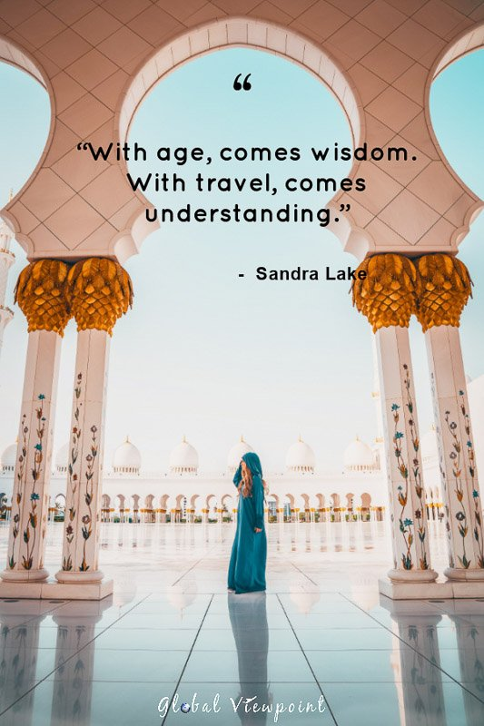 A great travel quote about wisdom.