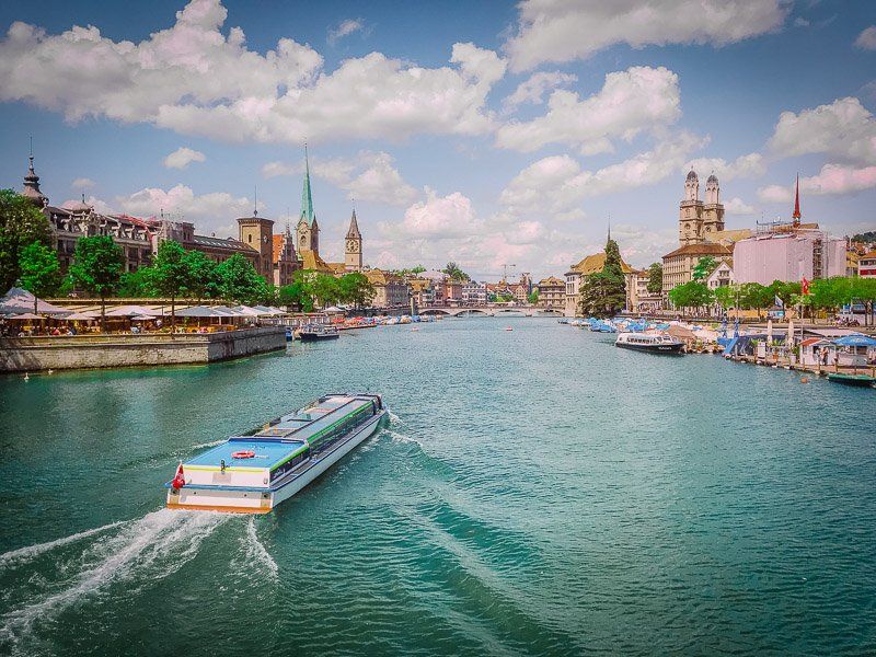 Zurich is a cheap European city to fly to from many destinations in the US, including Boston, NYC, Chicago, LAX, and Washington DC.