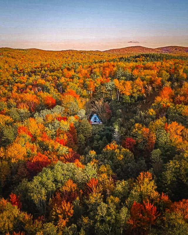 A-Frame cabin tucked in the middle of the wilderness