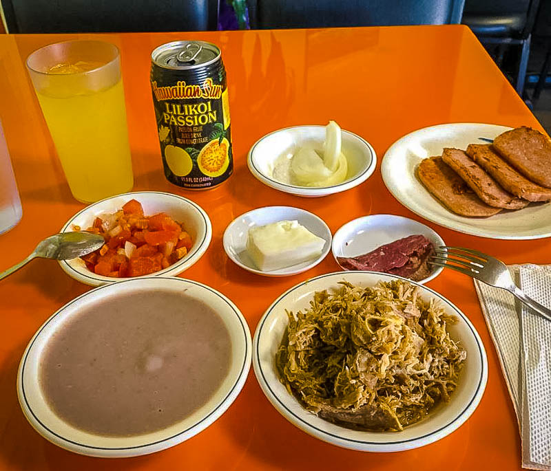 Eating a hearty Hawaiian meal is among the best things to do on Oahu for locals.