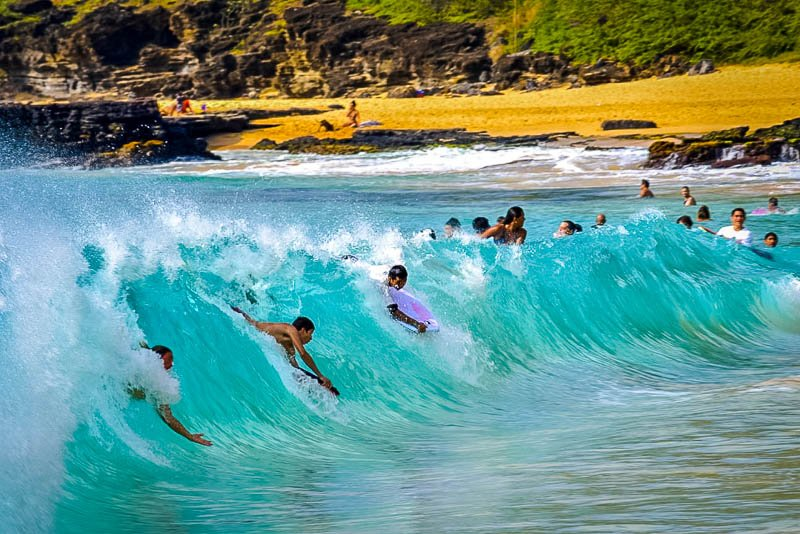 Bodyboarding at Sandy Beach Park is one of the best things to do on O'ahu.