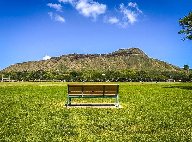 Enjoy a picnic at Kapiolani Park, a 300-acre public park near Diamond Head.