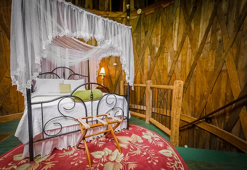 Bedroom inside the treehouse