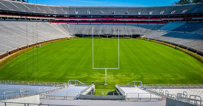 Sanford Stadium at the University of Georgia in Athens holds 92,746 spectators, making it the 10th largest stadium in the NCAA.