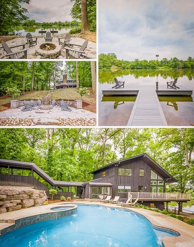 This lakefront home is among the top Airbnbs with a private heated pool in New Jersey.