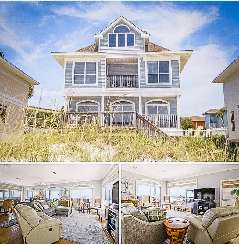 Beachfront house for rent in Destin, Florida