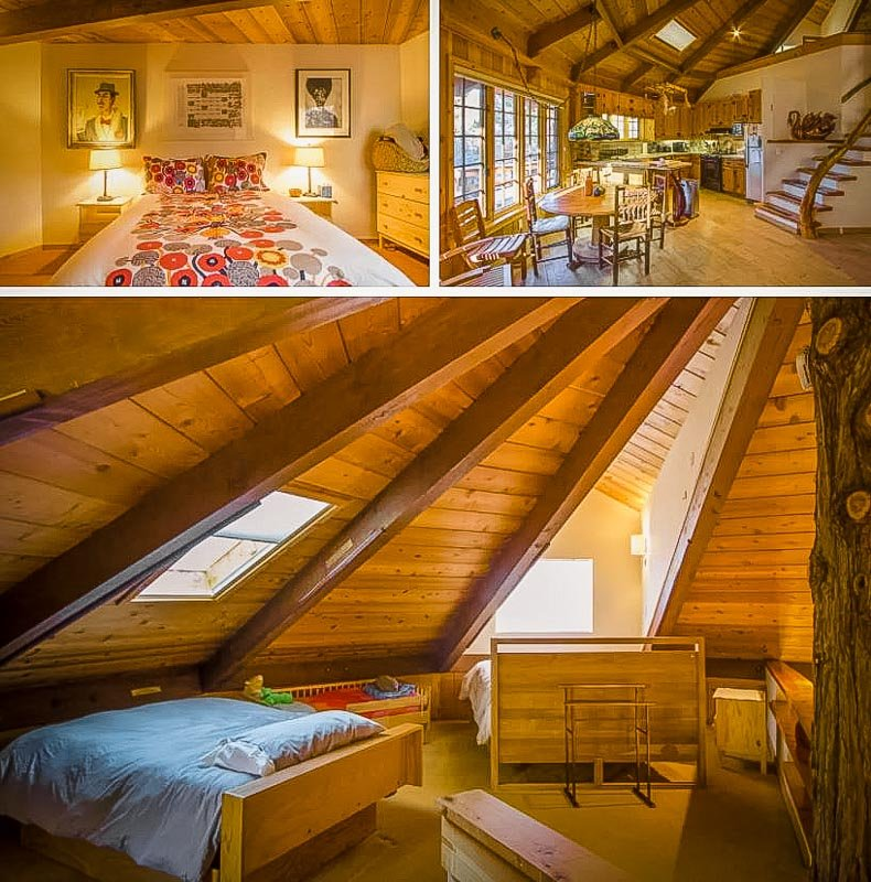 Rustic lodge décor and furniture.