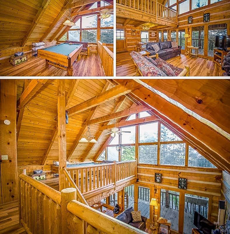 Log cabin-style accommodation