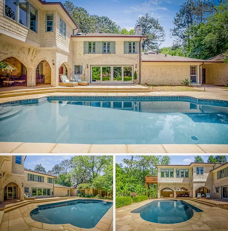 This home is one of the few vacation rentals in Atlanta with a private pool.