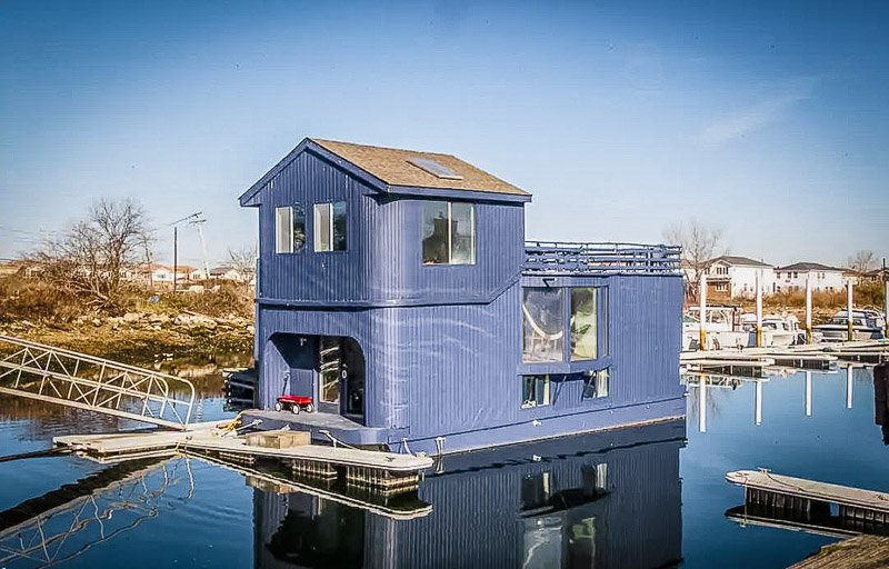 One of the coolest Airbnb houseboats imaginable.