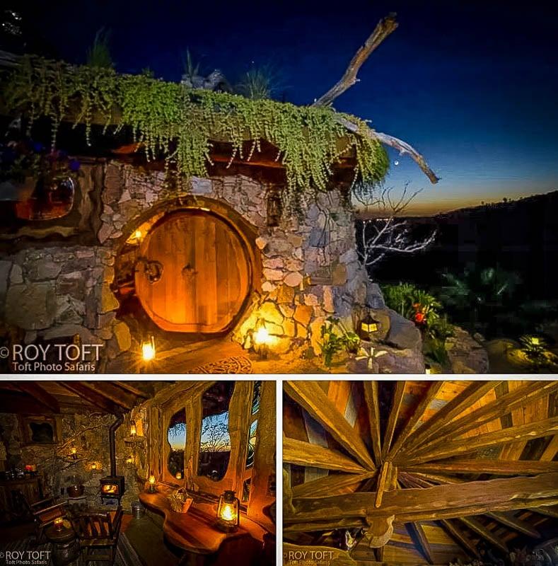 Hobbit hole rental during night time