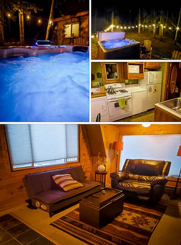 Outdoor hot tub and interior décor