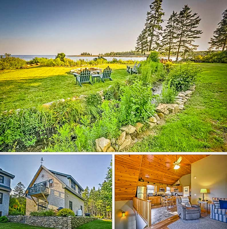 Harborfront cottage for rent in Maine