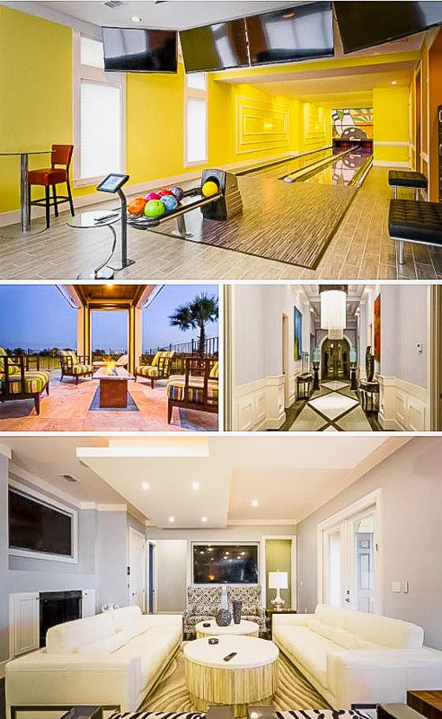Bowling alley and other top-notch amenities