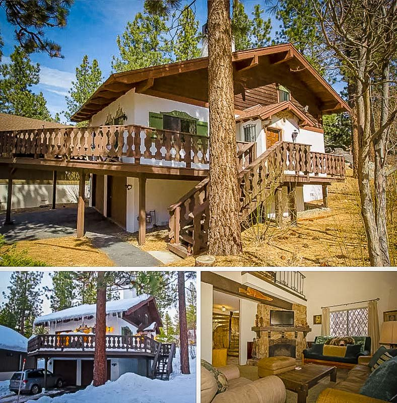 A Swiss Alps style chalet that's a long term Airbnb rental in Northern California.