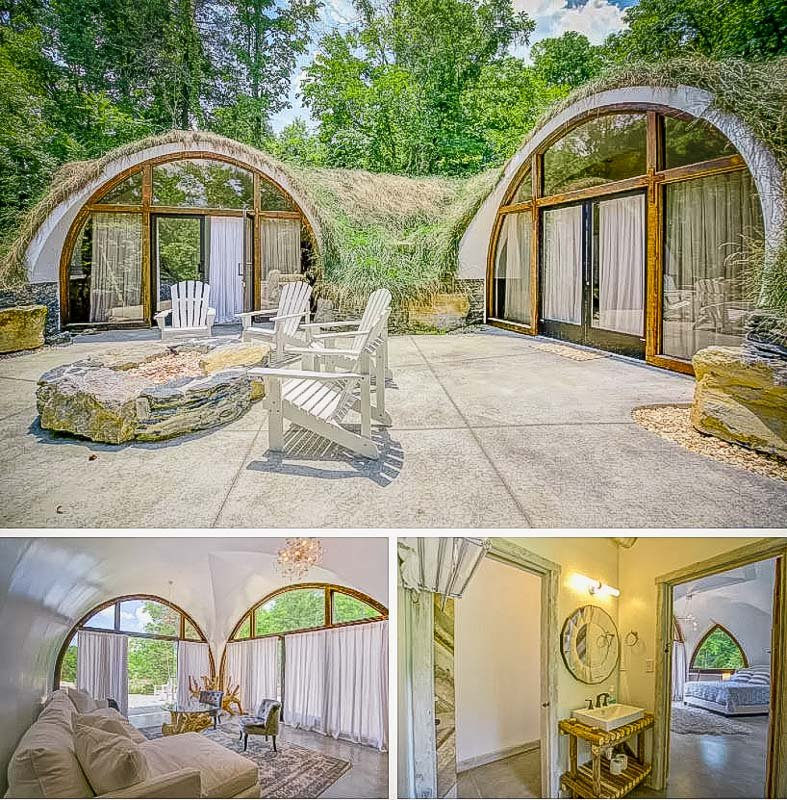 An elegant hobbit house Airbnb in Tennessee