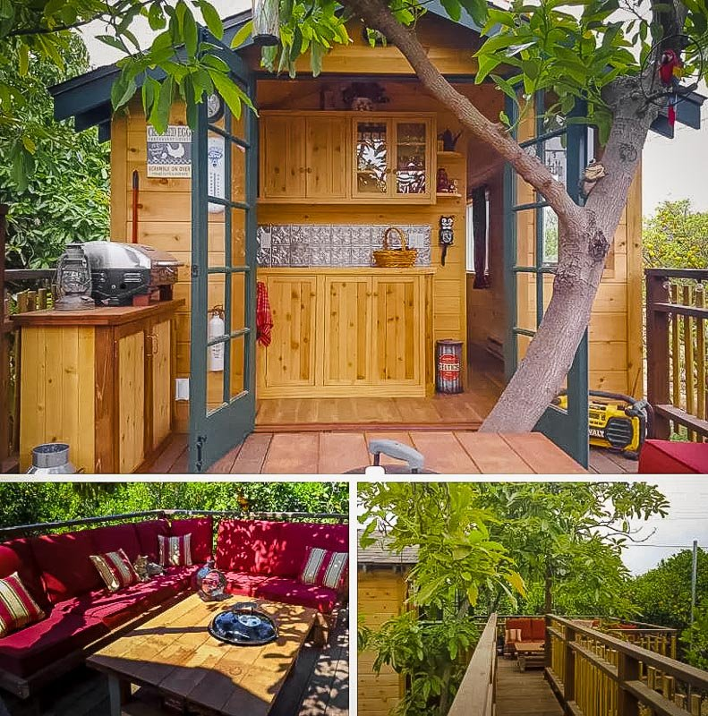 An Airbnb treehouse rental that is also a farm stay in the heart of California.