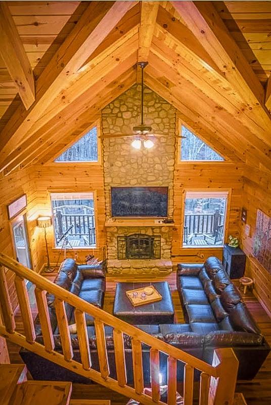 Rustic log cabin decoration