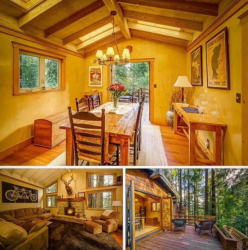 Rustic log cabin vibes