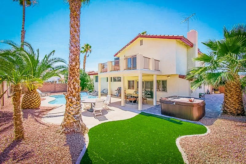 A unique Airbnb with private pool in Las Vegas.