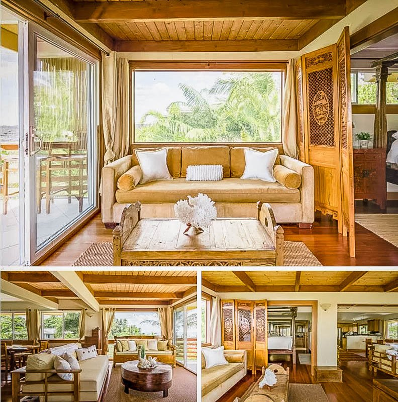 Unique Airbnb on the beach in Hawaii.