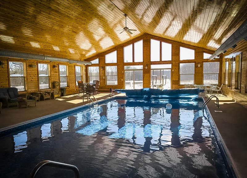 Indoor pool area.