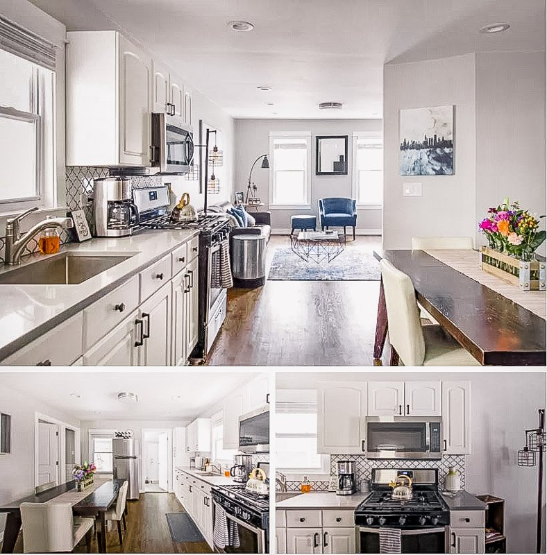 An apartment Airbnb for long term stays in Chicago.