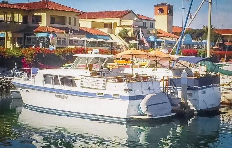 Unique yacht rental in California.
