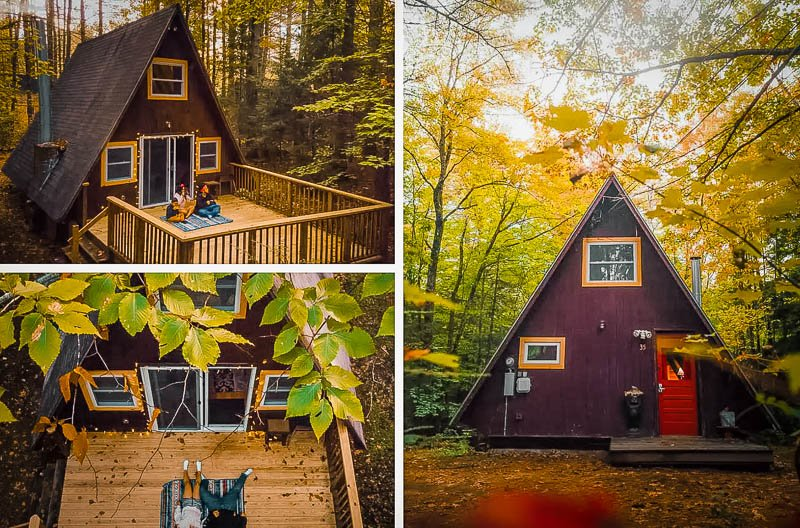 This A-Frame Airbnb cabin in the White Mountains is among the best in New Hampshire.
