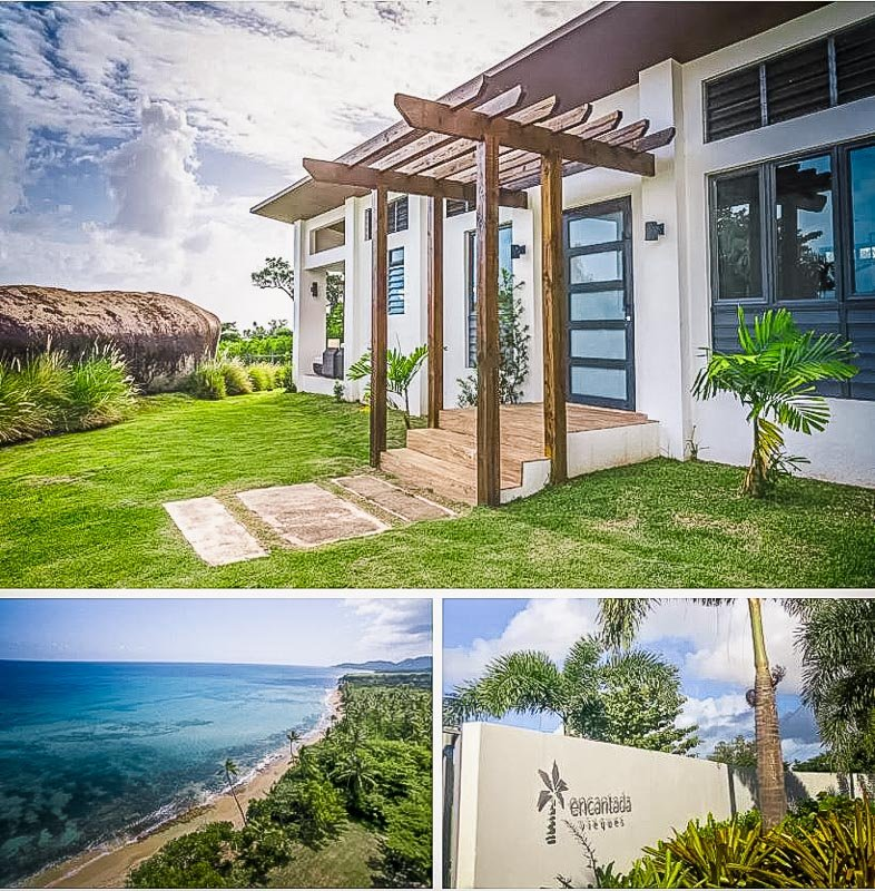 Tropical Airbnb rental on the beach in Puerto Rico