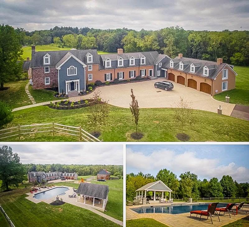 Lavish farmhouse mansion in PA.