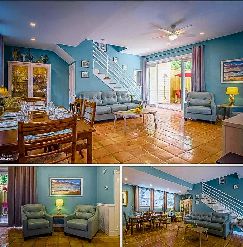 Colorful interior furniture and decoration.