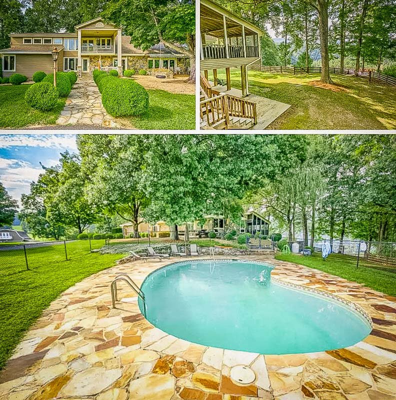 Ranch home in VA with stunning mountain views and a pool for rent.