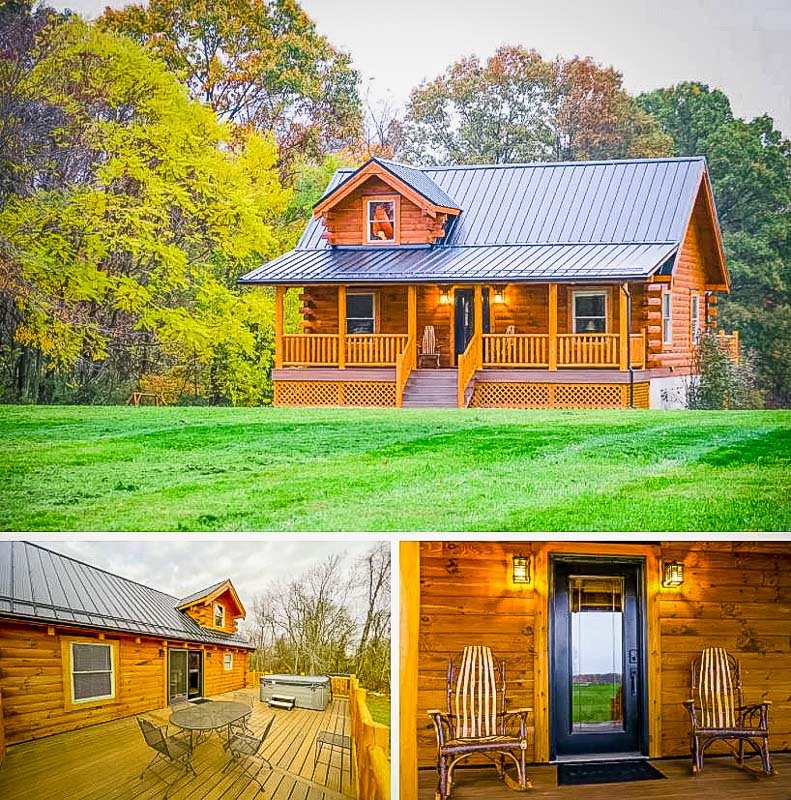 A long-term luxury Airbnb cabin in OH